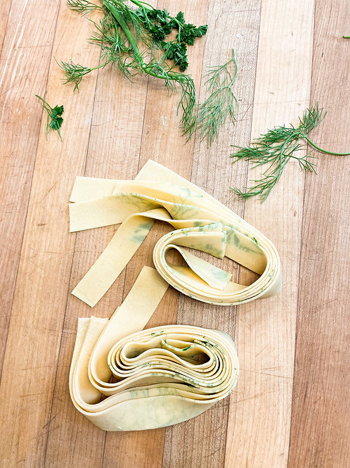 12  oz herb laminated pappardelle