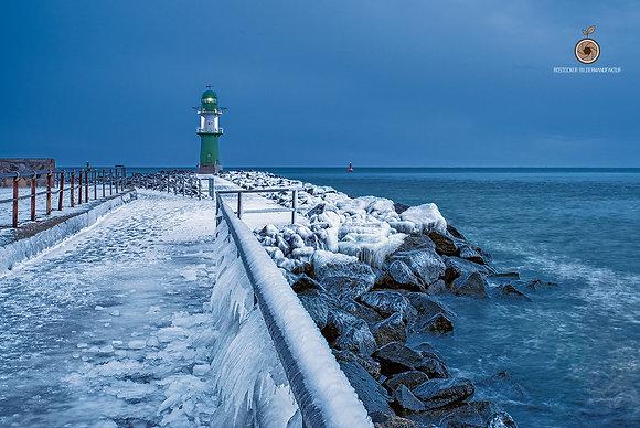 Wandbild NR 5241 - WAR Leuchtturm on ice