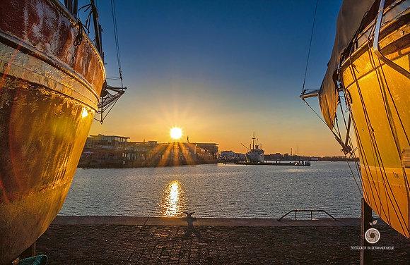 Wandbild NR 5240 - HRO Stadthafen sunrise