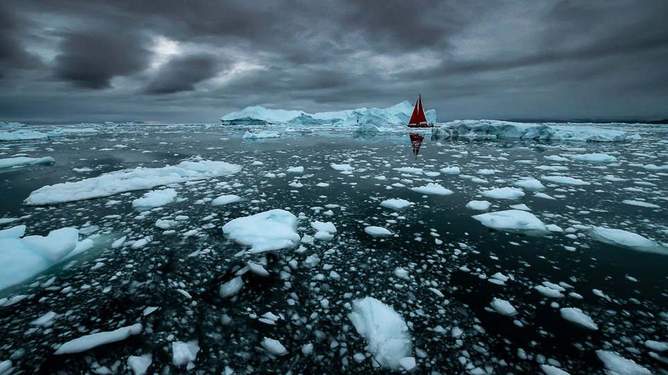 Dark day in Greenland by Marc Pelissier