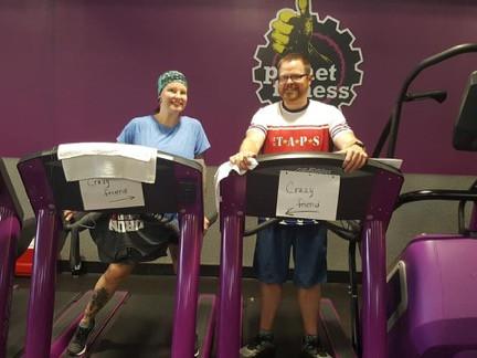 100 miles on a treadmill