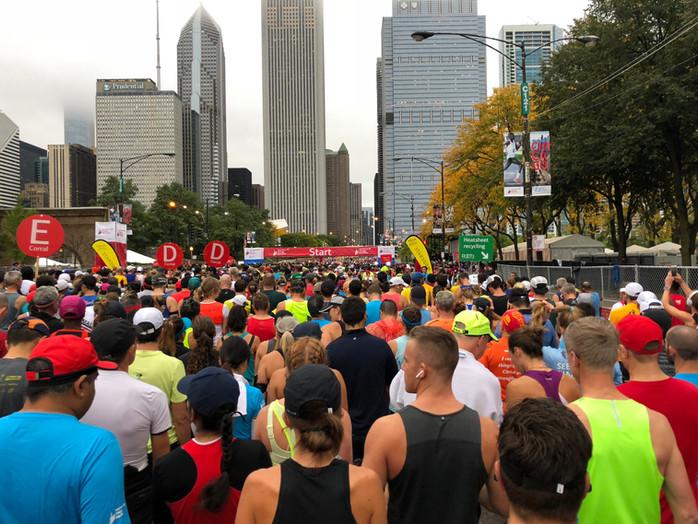 Redemption, part one, at the Chicago Marathon