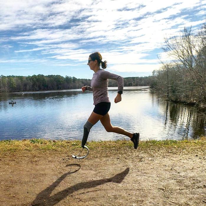 Blade Runner: Cancer survivor finds running, joy on the trails