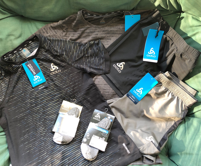 Stay cool and odor-free with Odlo shorts, shirts