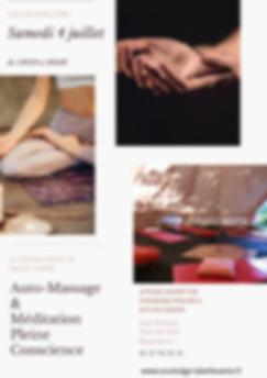 Affiche atelier automassage-meditation p