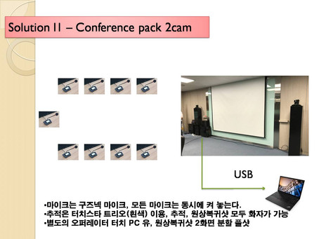 화상회의실 구축 Confernce 2cam pack
