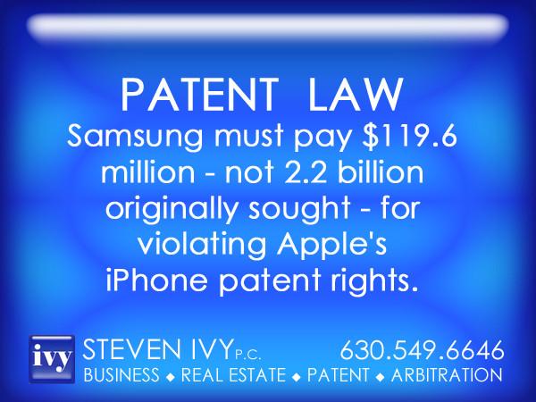 STEVEN IVY P.C. - Samsung must pay Apple $119.6 million.jpg