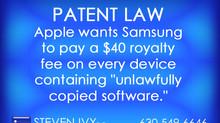 "Apple wants Samsung to pay a $40 royalty fee on every device containing ""unlawfully"""