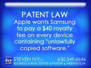 """Apple wants Samsung to pay a $40 royalty fee on every device containing """"unlawfully"""""""