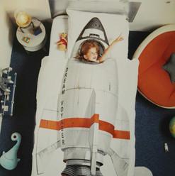 Kinderbettwäsche SNURK Rakete