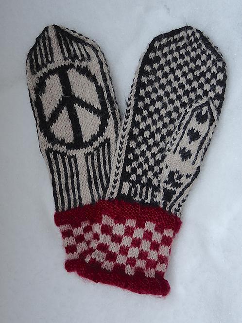 PEACE – votter med peacemerke