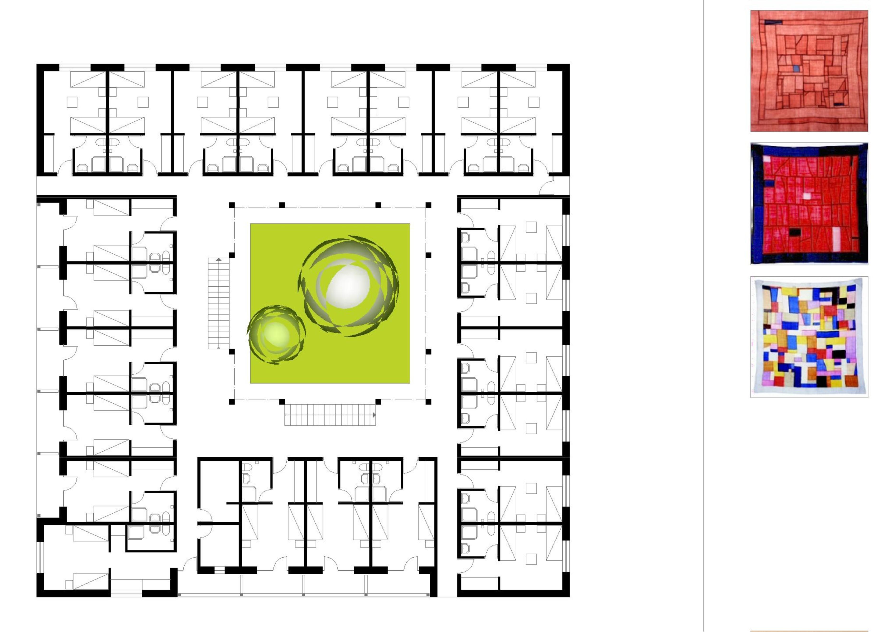Štúdia stavby penziónu Square 07