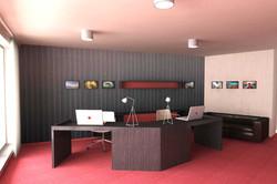 Návrh interiéru kancelárie 01