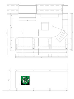 Projekt interiéru info centra NZ 08