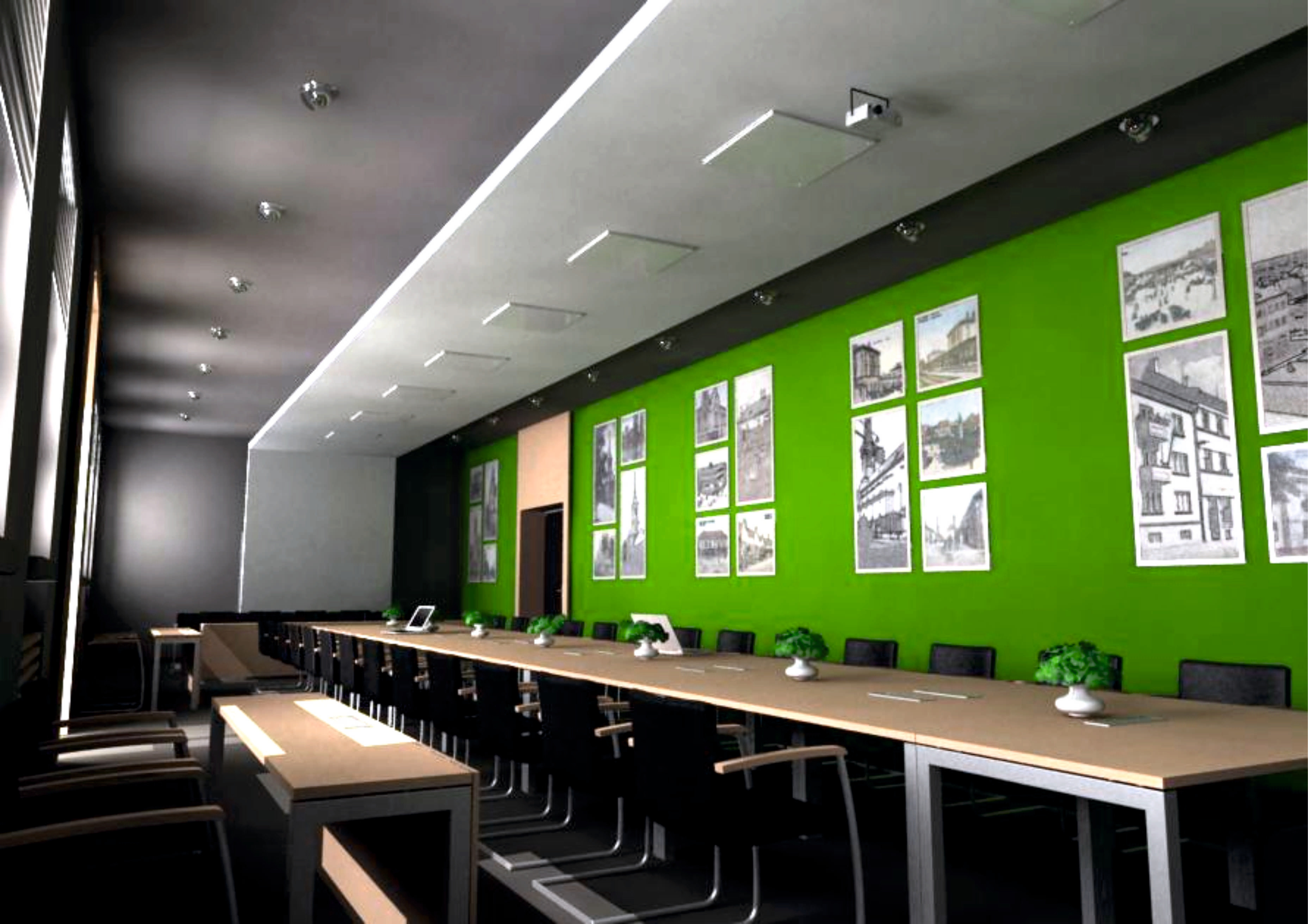 Projekt interiéru zasadačky NZ 09
