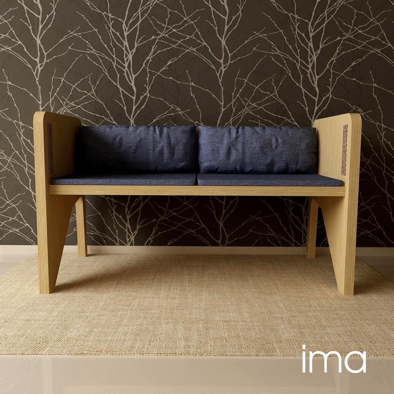 Návrh dizajnu lavice Prešívanec 03