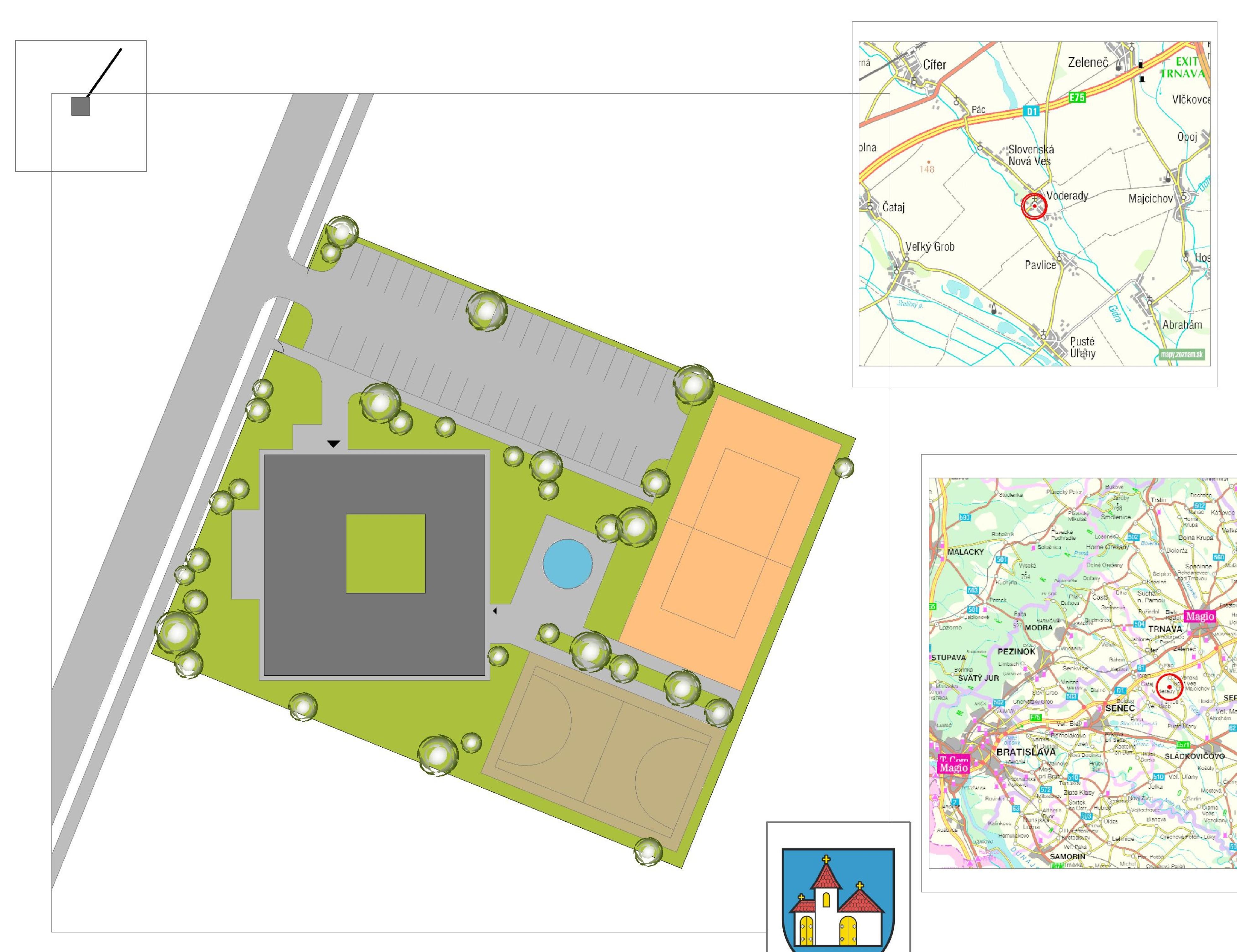 Štúdia stavby penziónu Square 05