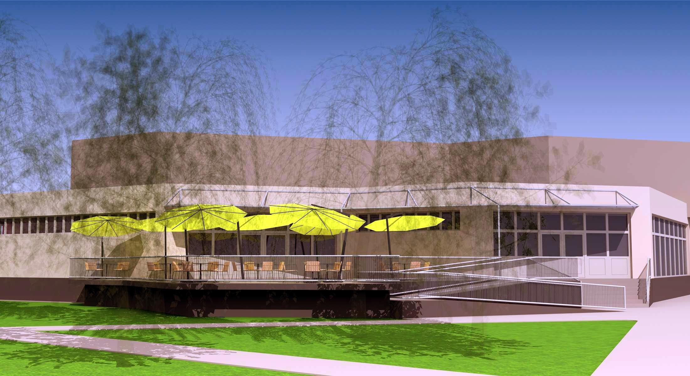 Projekt terasy kaviarne Šaľa 05