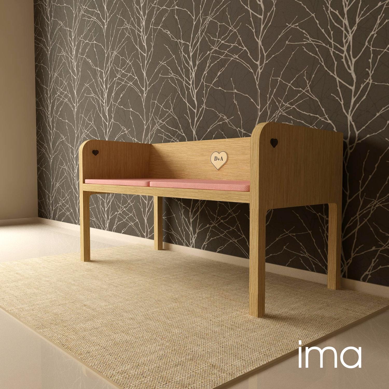 Návrh dizajnu lavice Láskavec 01