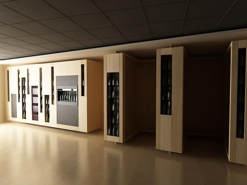 Projekt interiéru vinotéky NZ 02