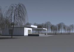 Projekt domu smútku Bánov 01