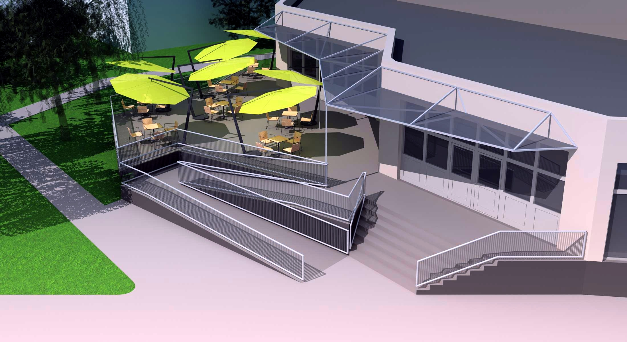 Projekt terasy kaviarne Šaľa 01