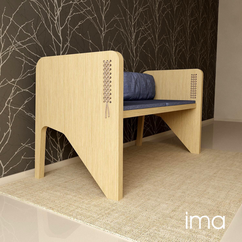 Návrh dizajnu lavice Prešívanec 02