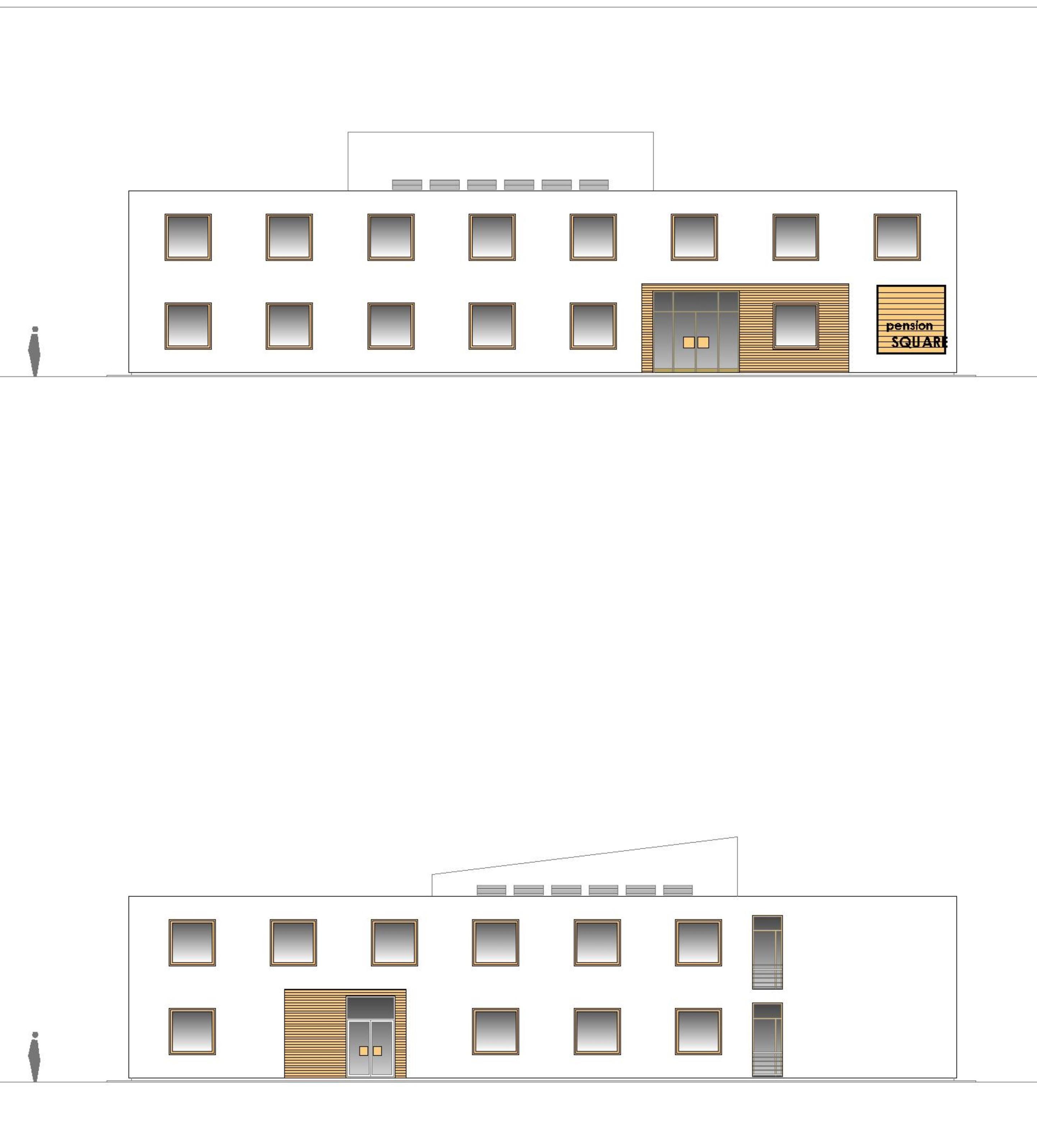 Štúdia stavby penziónu Square 09