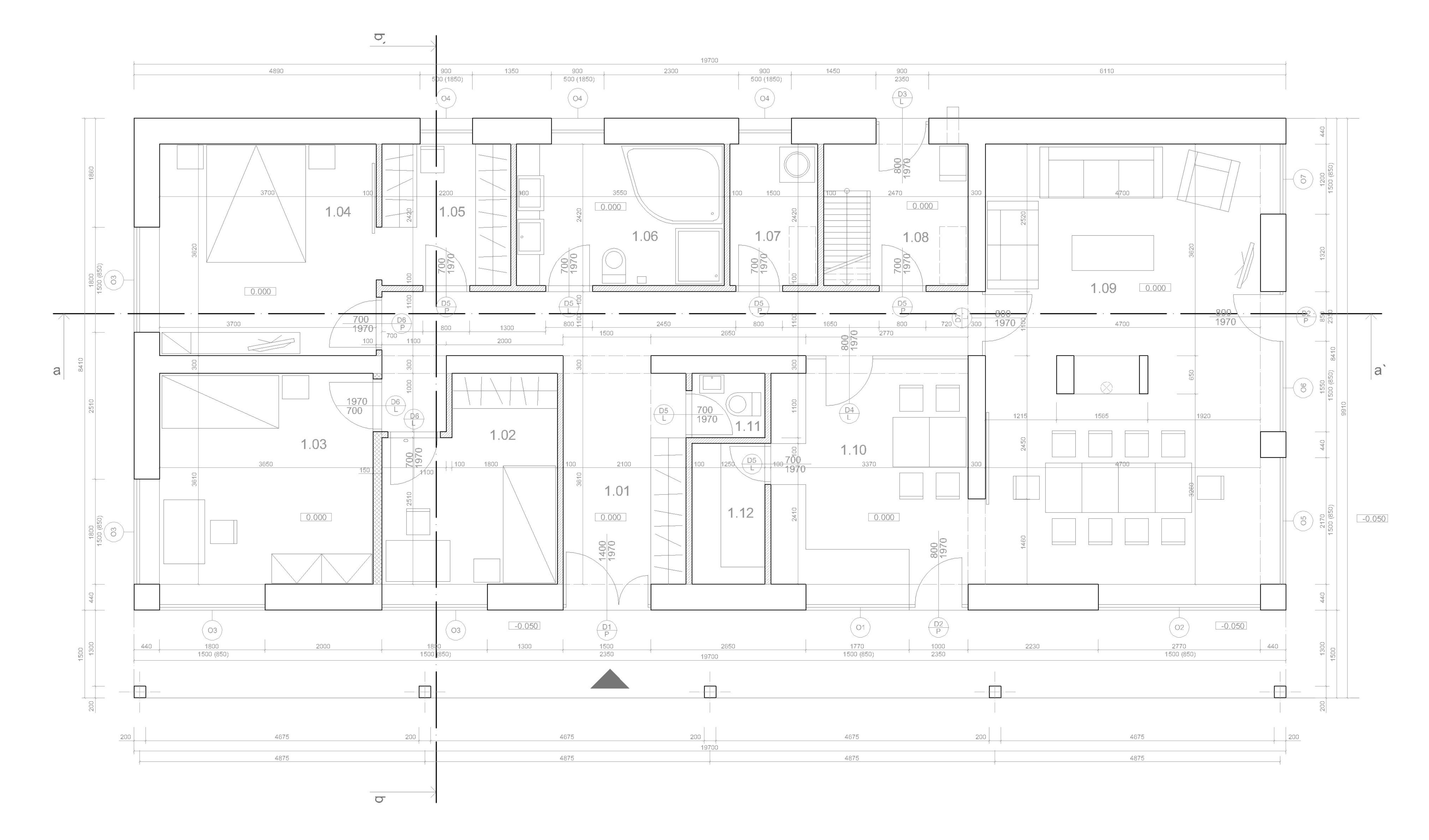 Projekt stavby rodinného domu III 08