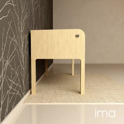 Návrh dizajnu lavice Láskavec 04