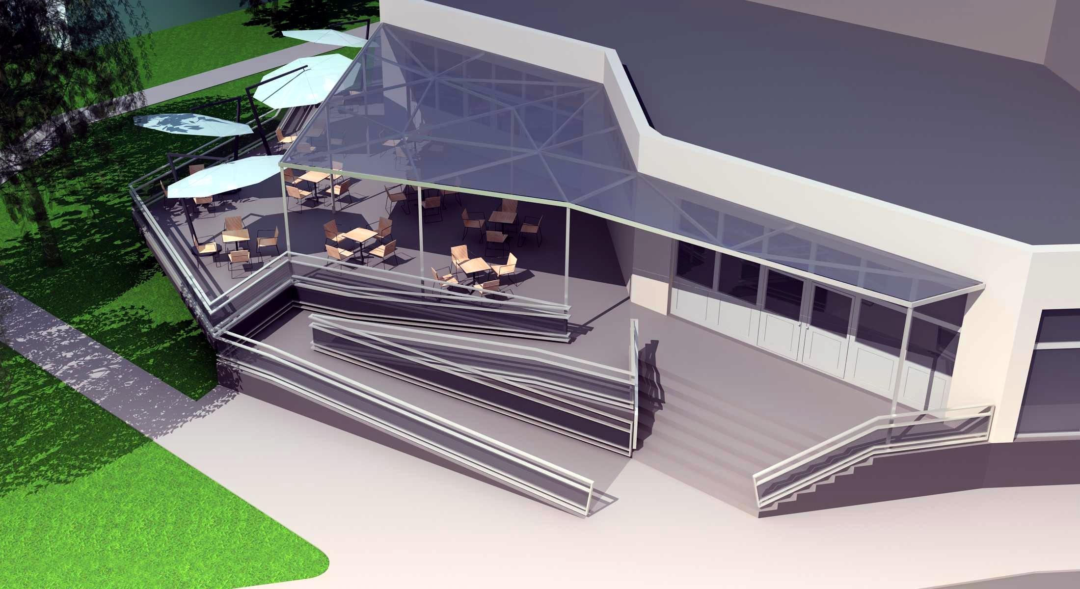 Projekt terasy kaviarne Šaľa 07