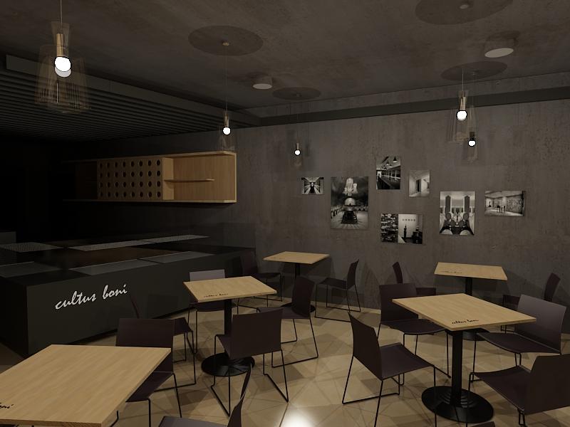 Projekt interiéru vinotéky NZ 04