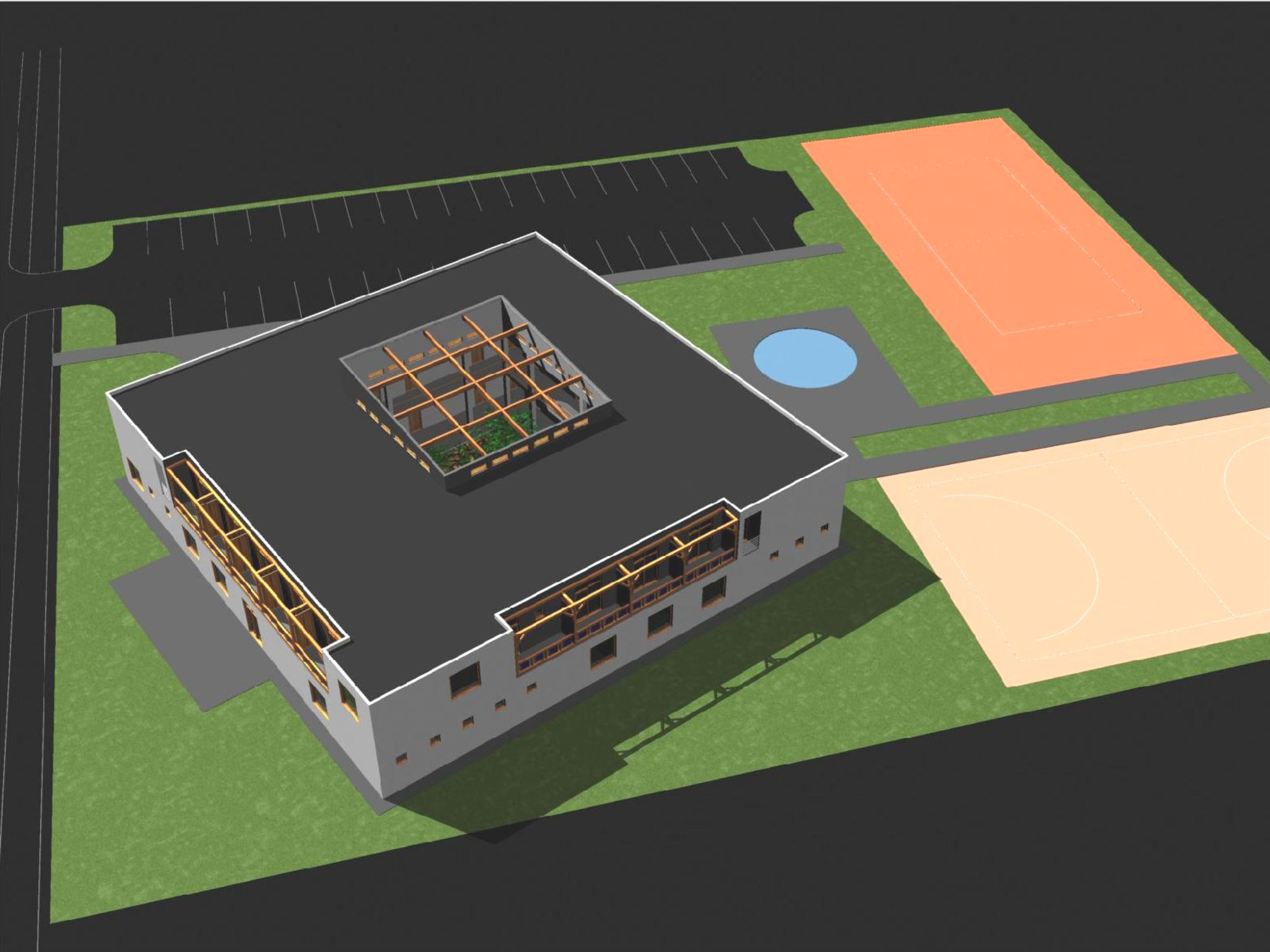 Štúdia stavby penziónu Square 03