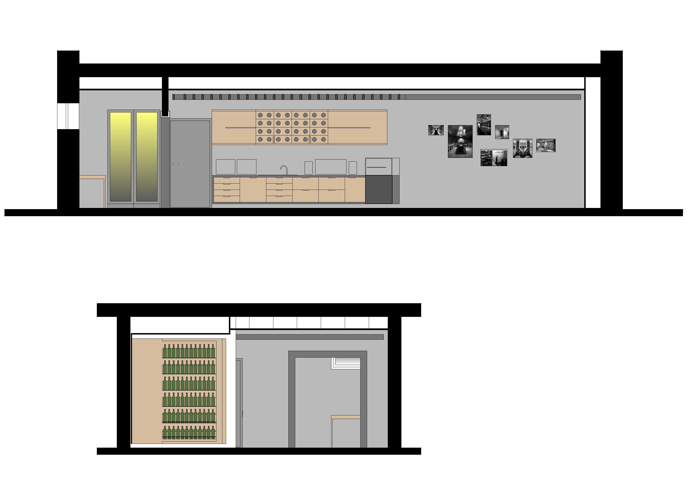 Projekt interiéru vinotéky NZ 10
