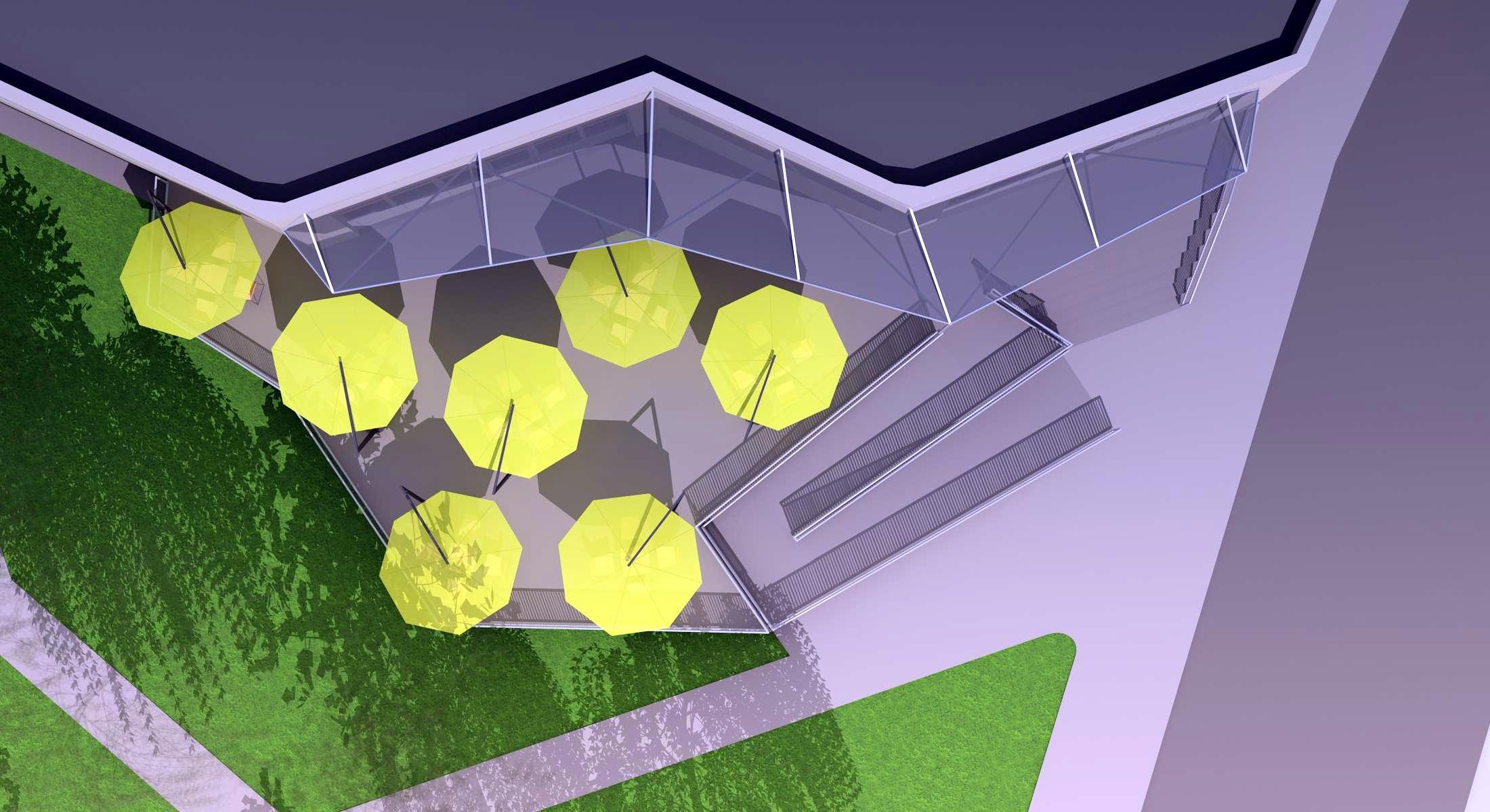 Projekt terasy kaviarne Šaľa 03