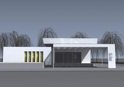 Projekt domu smútku Bánov 03