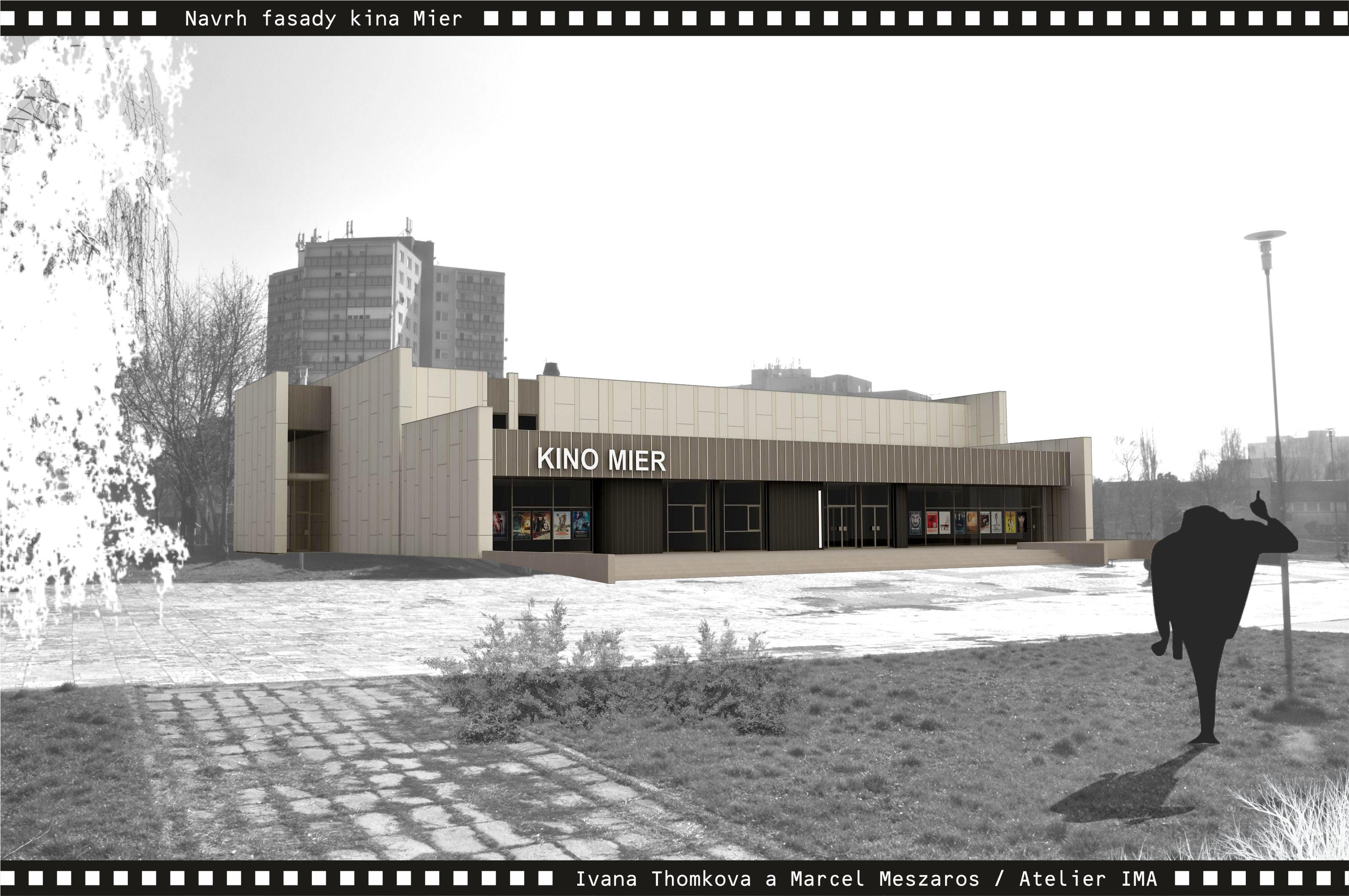 Projekt fasády kina Mier NZ 02