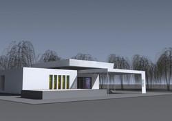 Projekt domu smútku Bánov 02