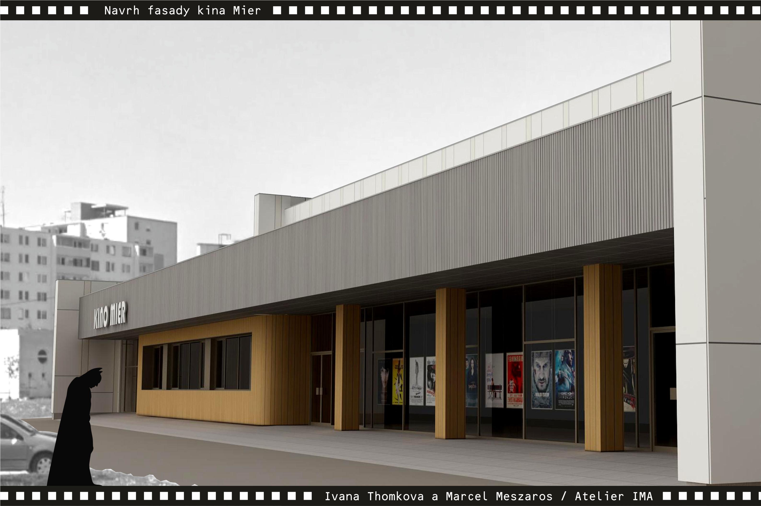 Projekt fasády kina Mier NZ 07