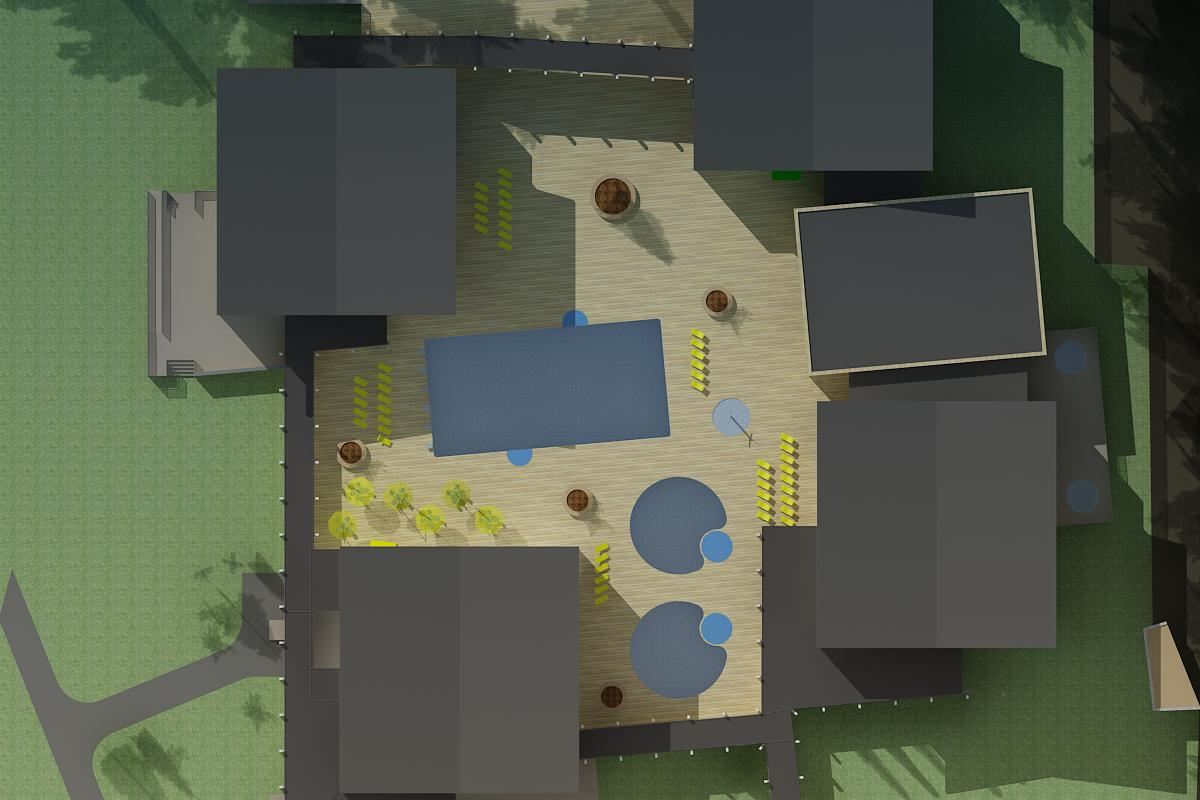 Štúdia nadstavby hotela Kaskády 16