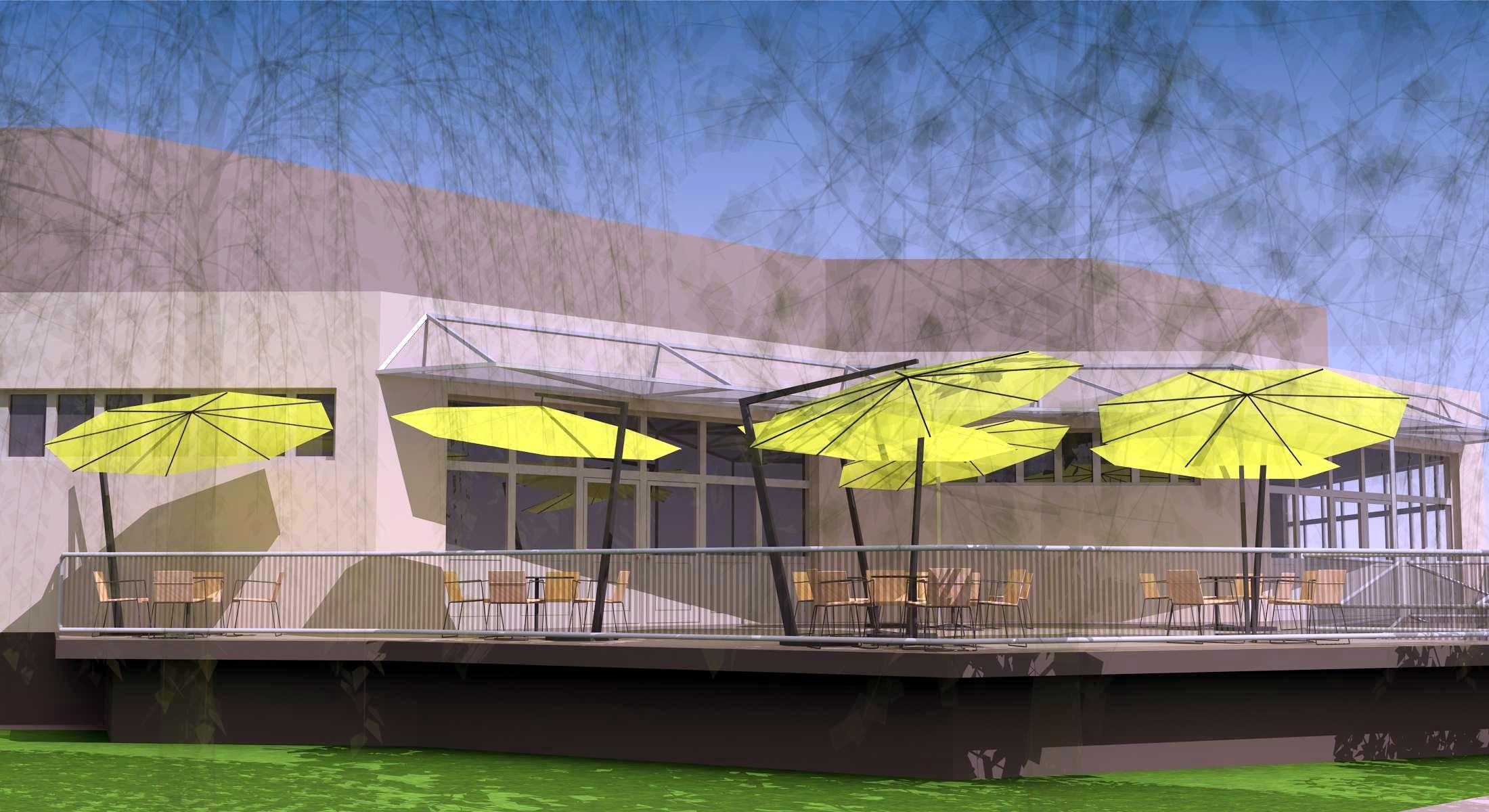 Projekt terasy kaviarne Šaľa 06