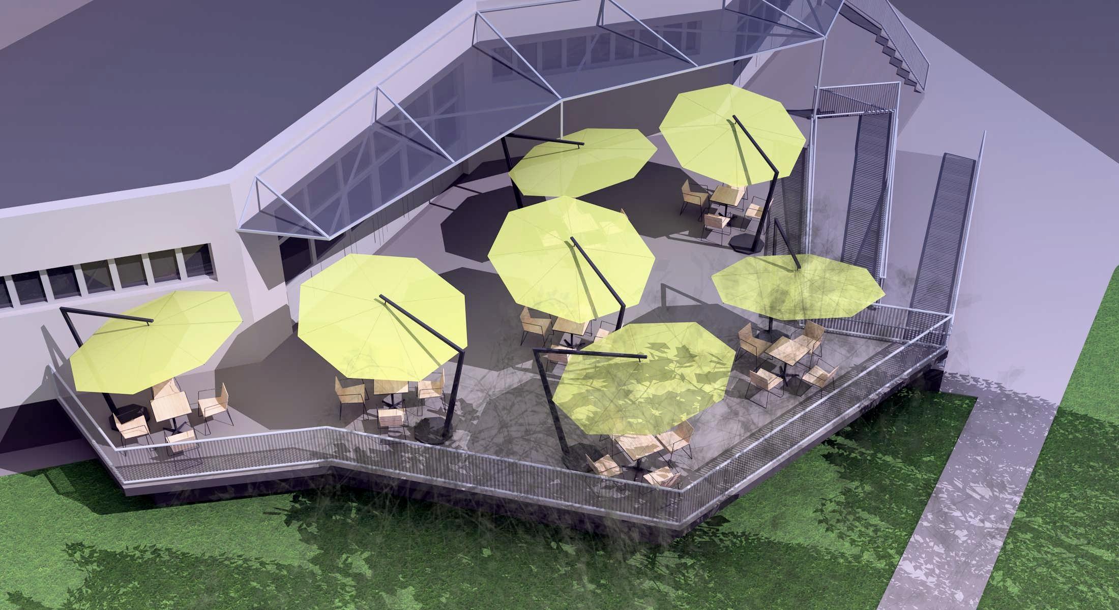 Projekt terasy kaviarne Šaľa 04