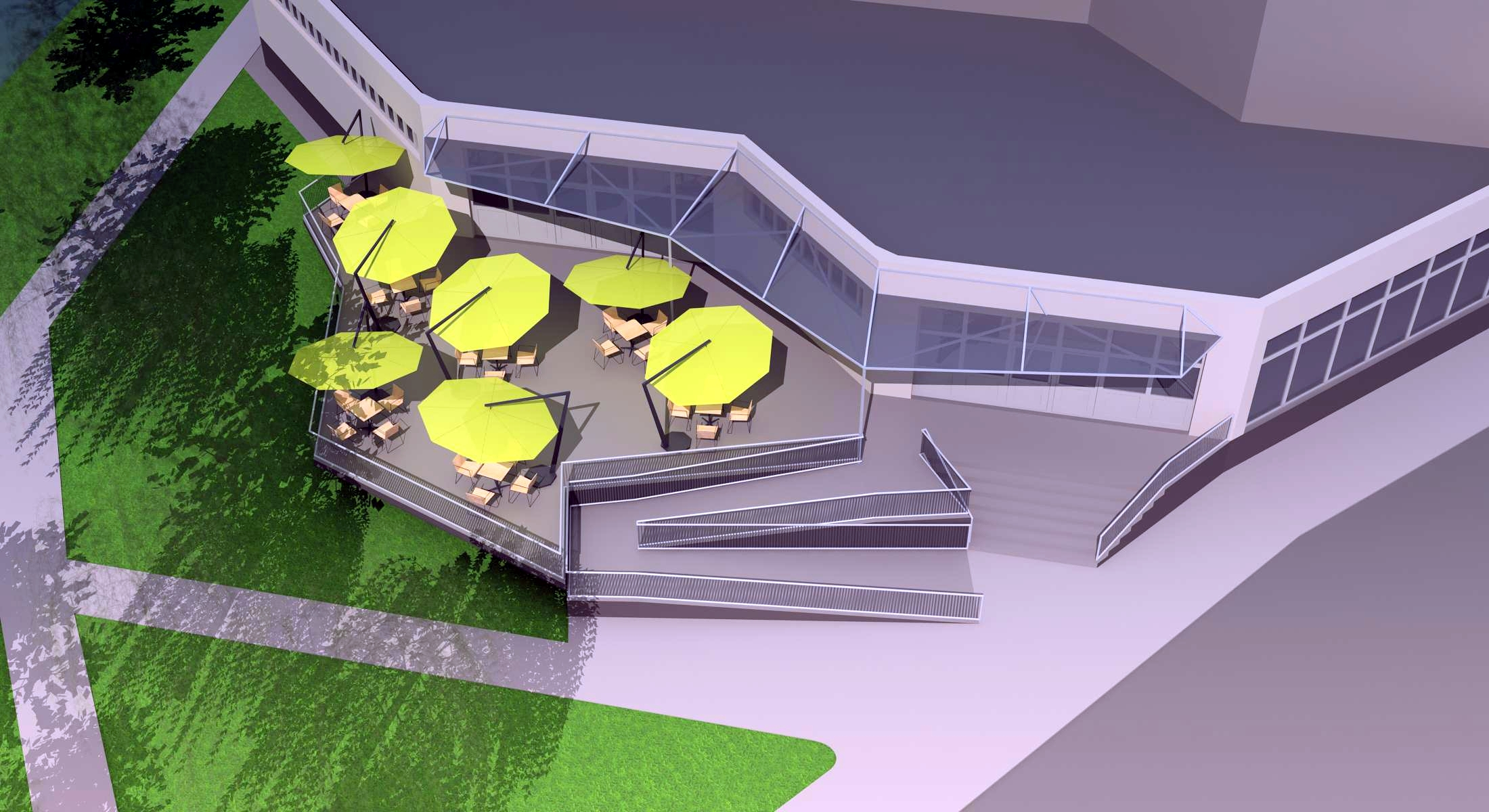 Projekt terasy kaviarne Šaľa 02