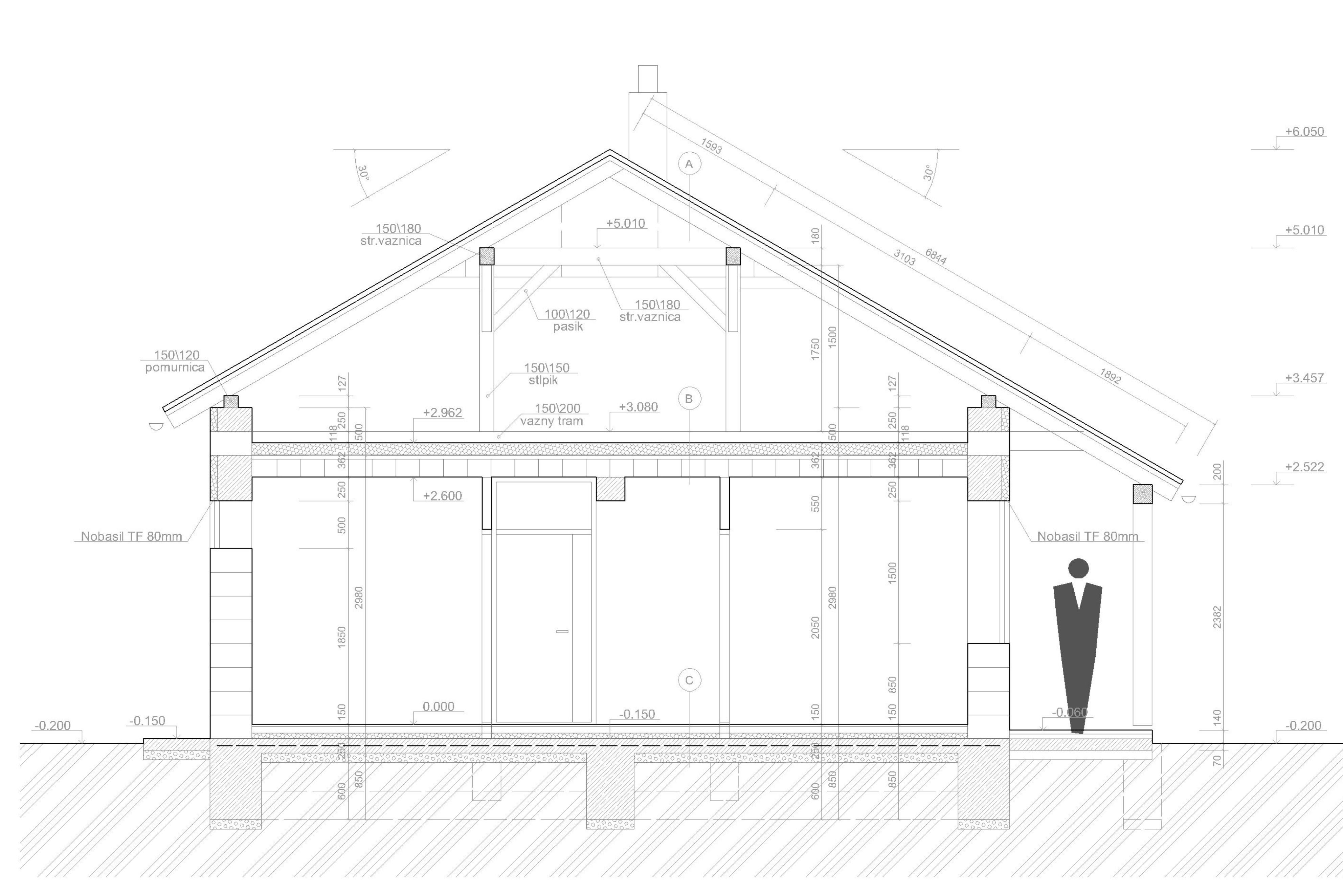 Projekt stavby rodinného domu III 09