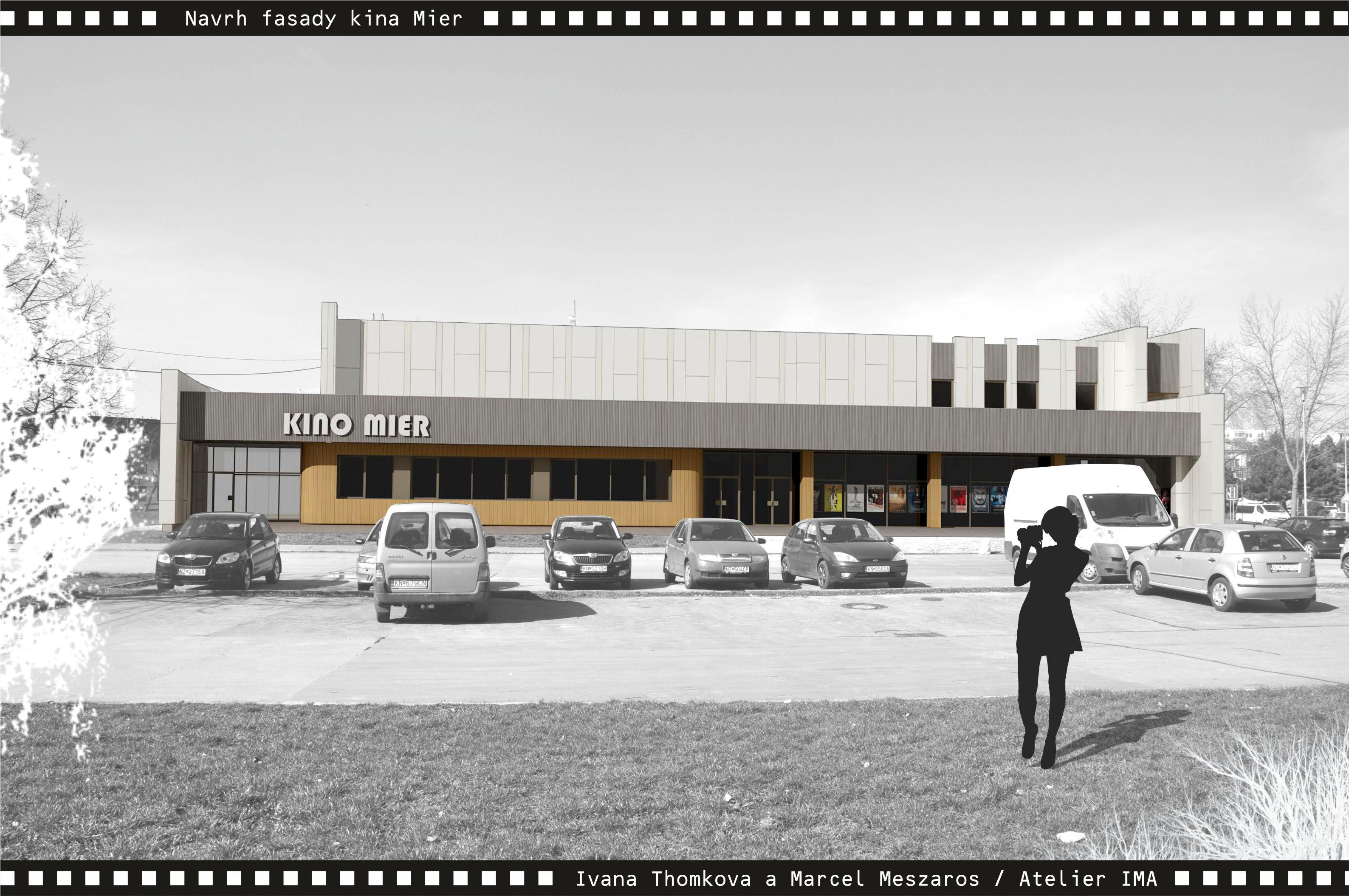 Projekt fasády kina Mier NZ 05