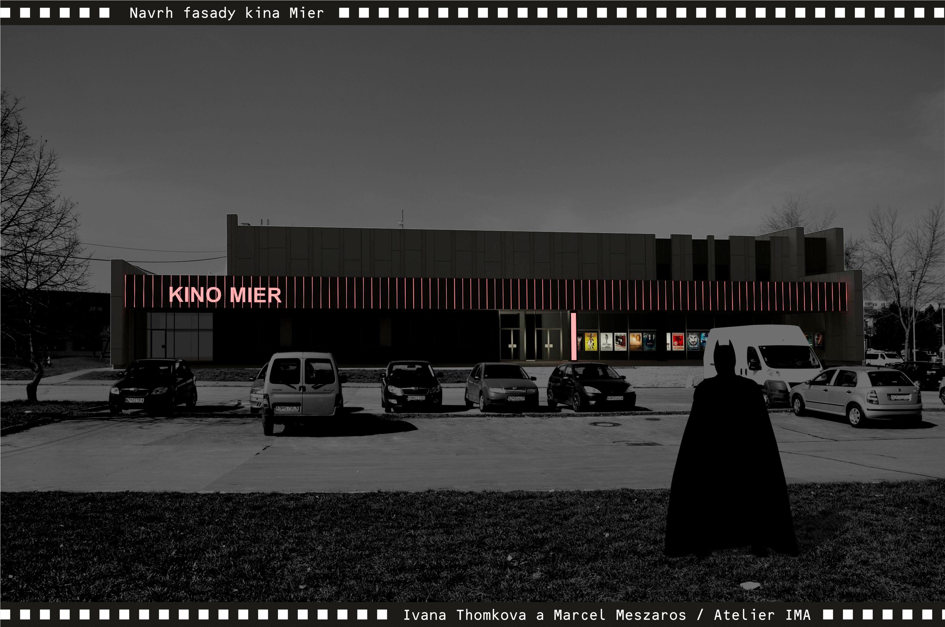 Projekt fasády kina Mier NZ 04