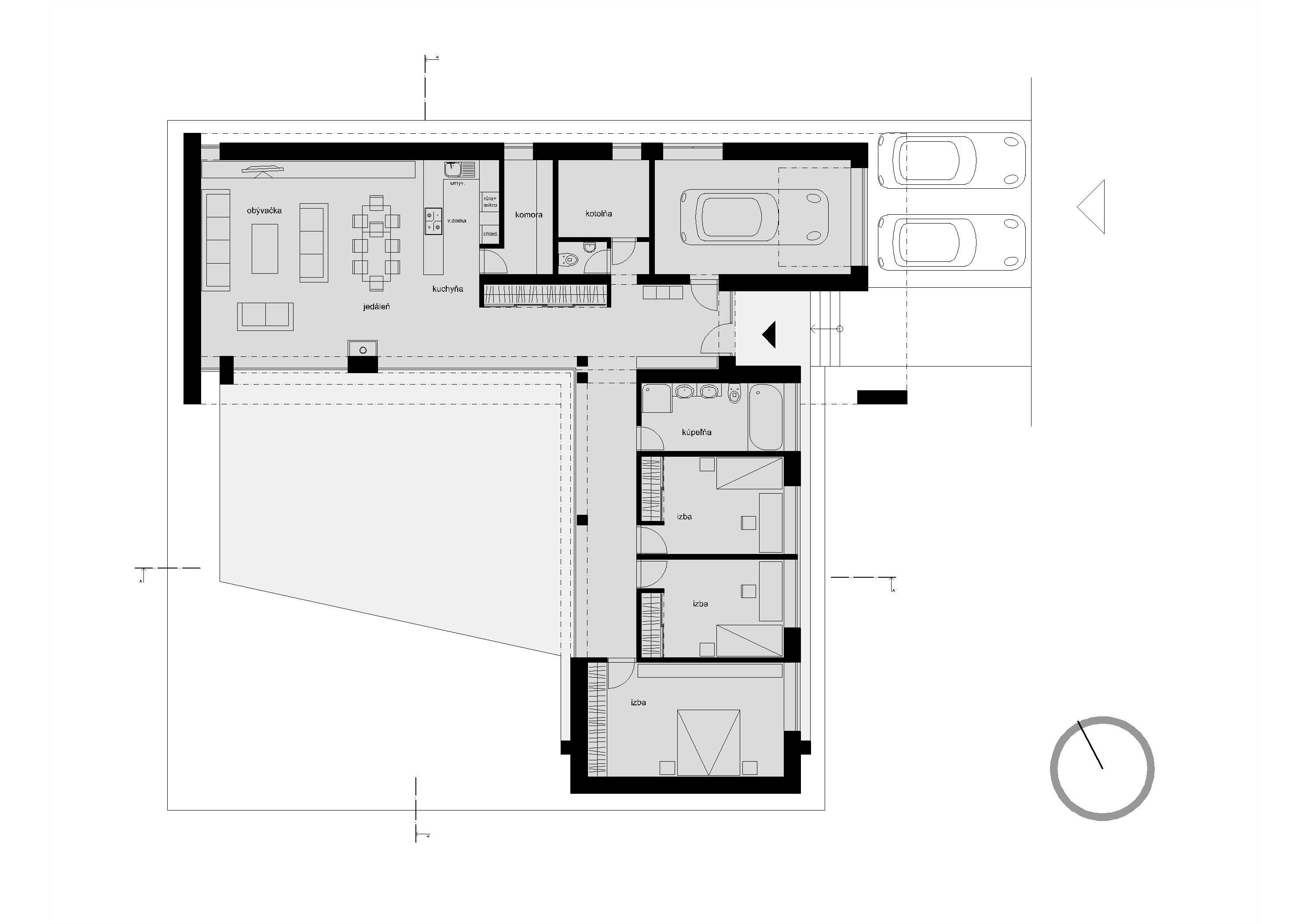 Projekt stavby rodinného domu VII 10