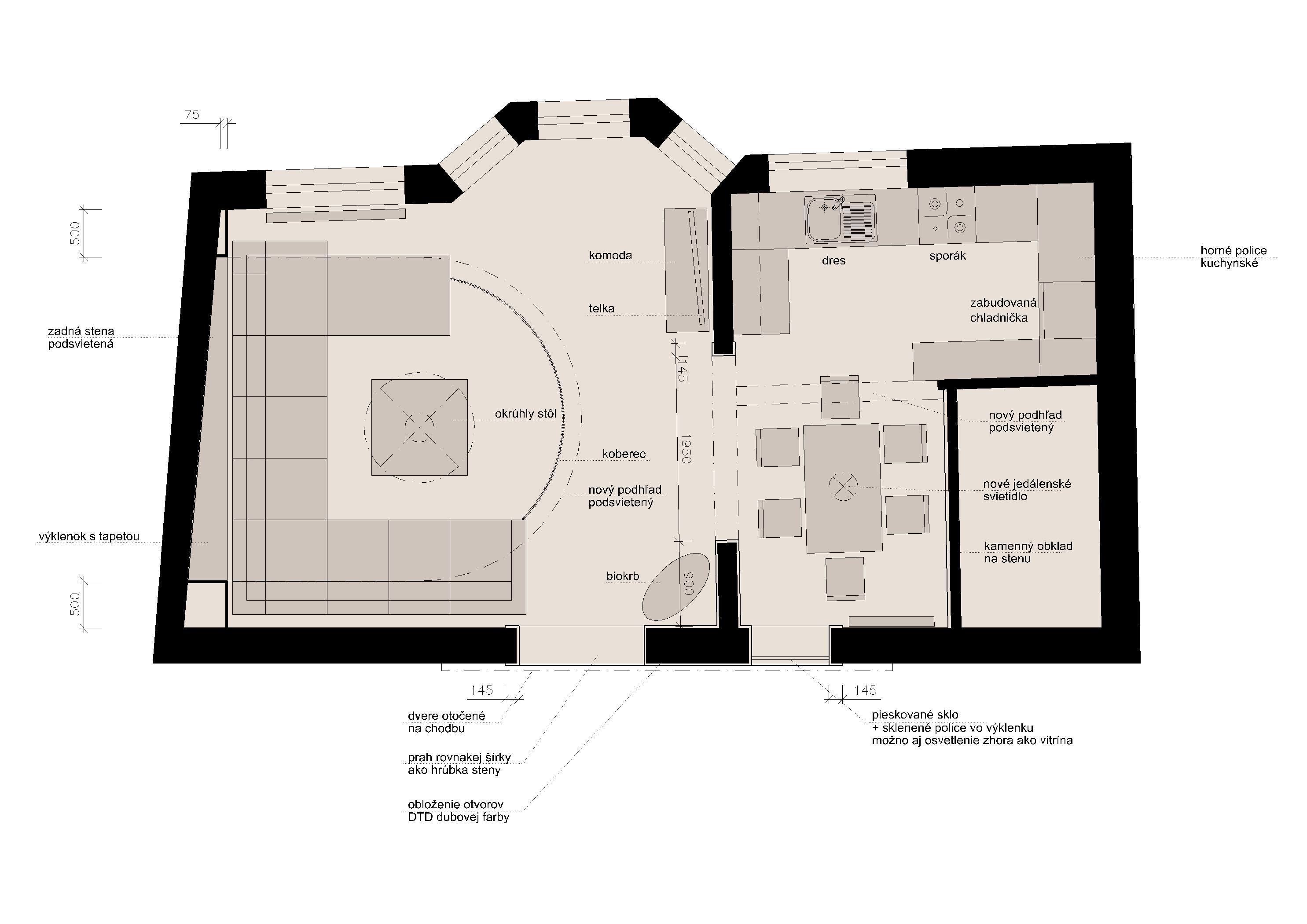 Projekt interiéru RD II 09