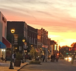 Downtown Mooresville Sunset