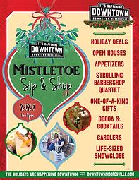 Downtown Mooresville Mistletoe Sip & Shop 2020